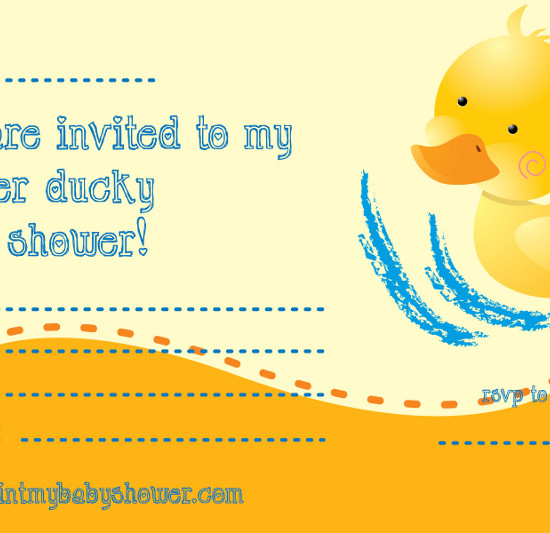 Rubber Ducky Invitations