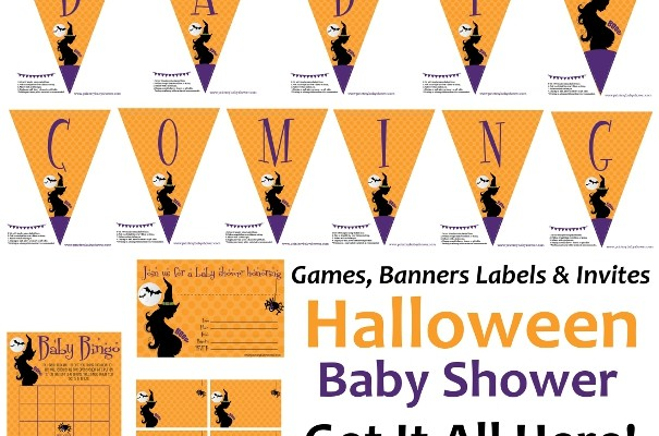 Halloween Baby Shower Invitations, Games & Decorations